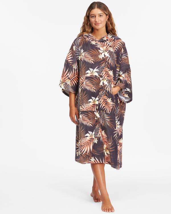 0 Women's Hooded Changing Towel Black ABJWW00101 Billabong