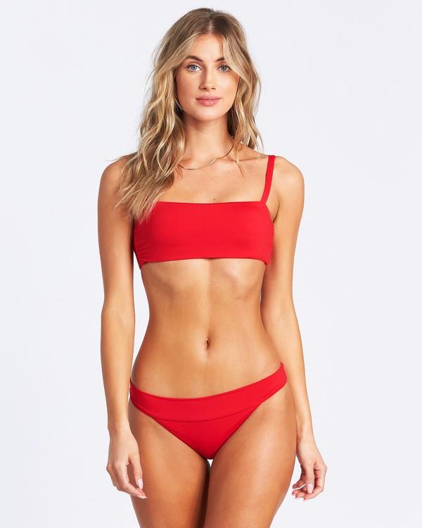 0 Sol Searcher Strappy Tank Bikini Top Red ABJX300103 Billabong