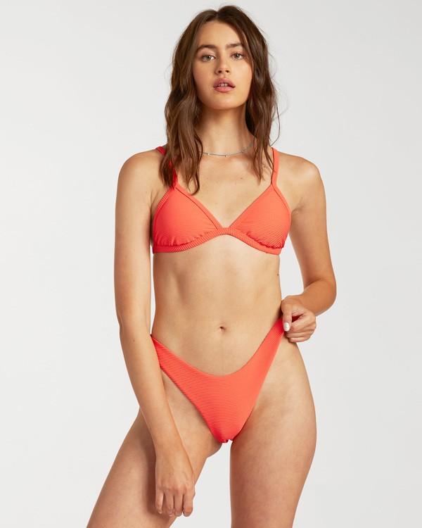 0 Tanlines Ivy Triangle Bikini Top Orange ABJX300135 Billabong