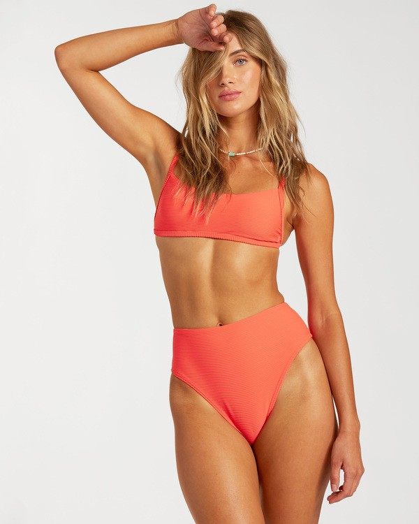 0 Tanlines Bralette Bikini Top Orange ABJX300136 Billabong