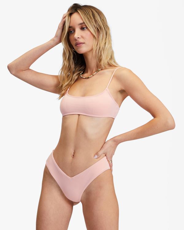 0 Sol Searcher Skinny Mini Crop Bikini Top Green ABJX300236 Billabong