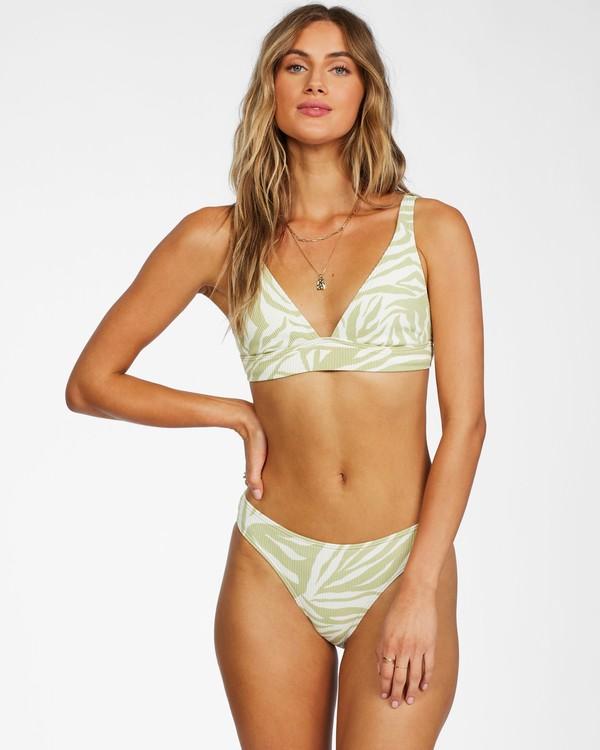0 Jungle Town Banded Triangle Bikini Top Green ABJX300264 Billabong