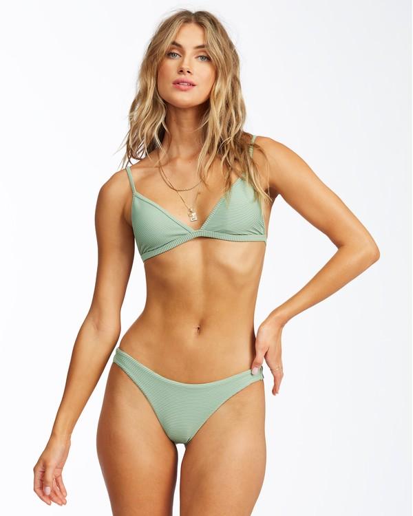 0 Tanlines Ceci Triangle Bikini Top Green ABJX300291 Billabong
