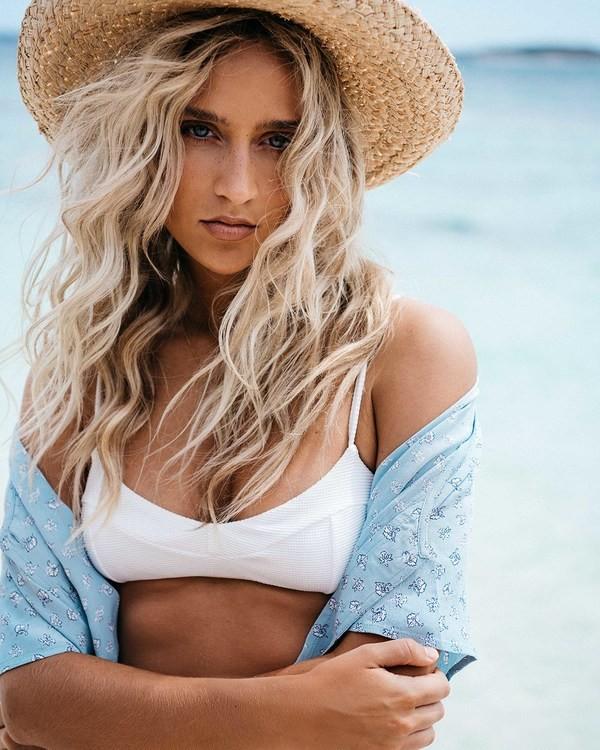 0 Tanlines Gigi Bralette Bikini Top White ABJX300330 Billabong
