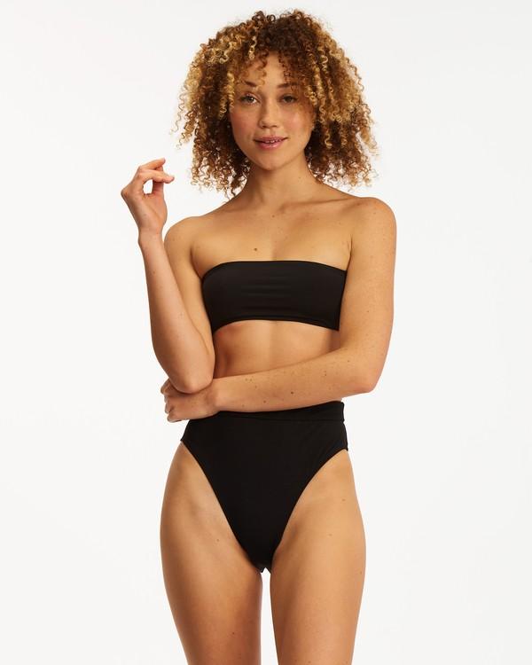 0 Sol Searcher Bandeau Bikini Top Black ABJX300400 Billabong