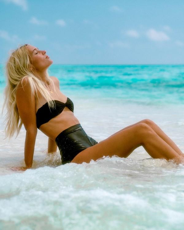0 Sol Searcher Lulu Bandeau Bikini Top Black ABJX300404 Billabong