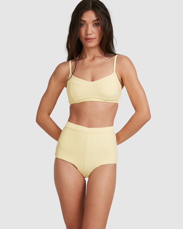 0 Tanlines DD Vintage Bralette Bikini Top Yellow ABJX300477 Billabong