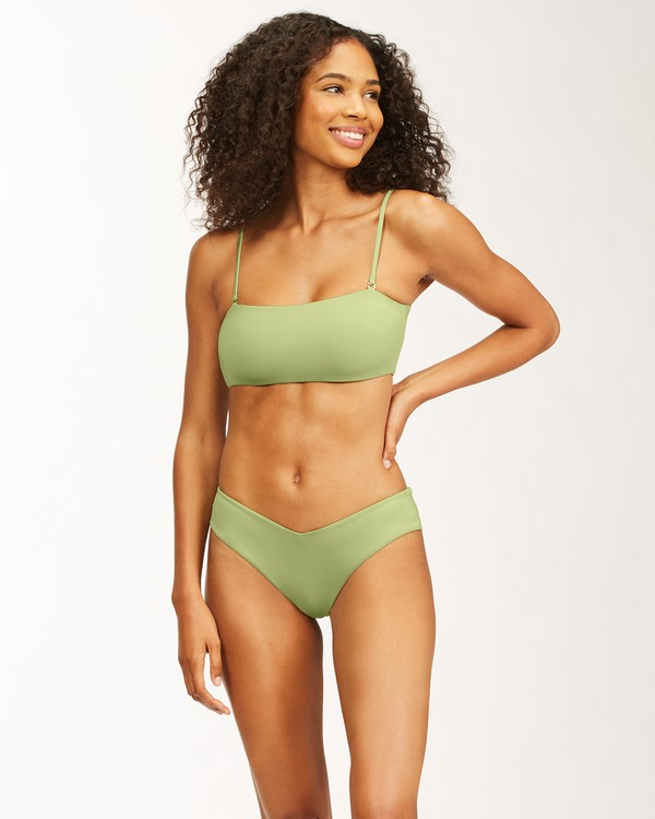 0 Sol Searcher Bandeau Bikini Top Green ABJX300481 Billabong