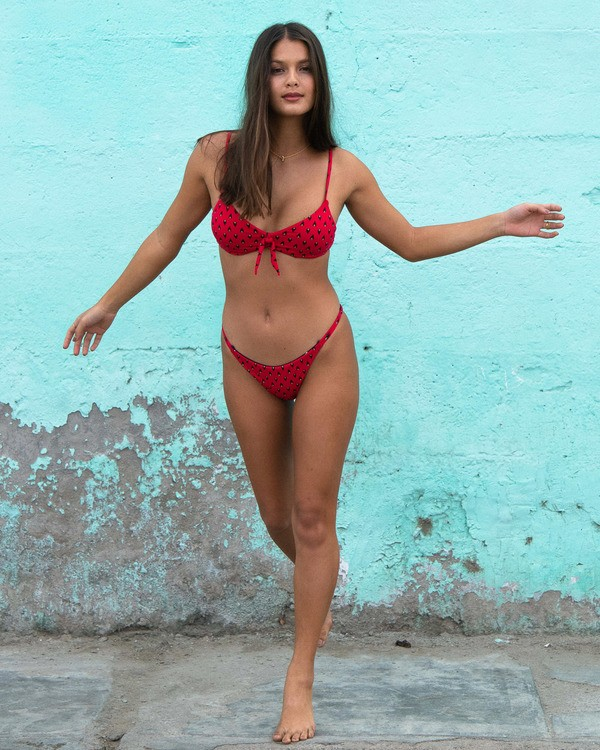 0 Falling Light Maya Bikini Bottom Red ABJX400122 Billabong