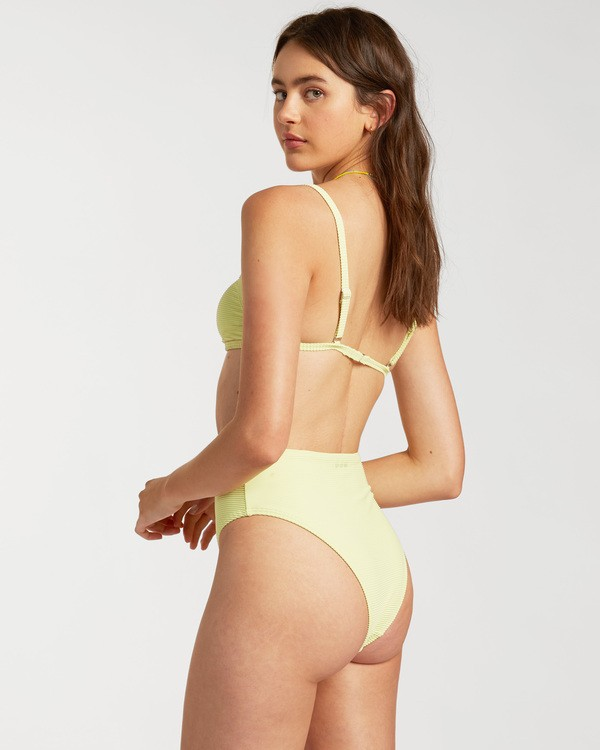 0 Tanlines High Maui Rider Bikini Bottom Green ABJX400140 Billabong