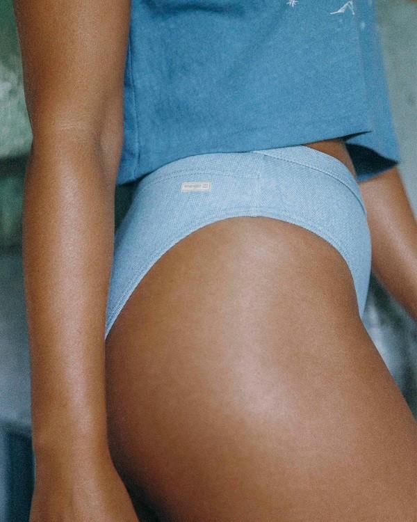 0 Wrangler Down With Denim High Maui Bikini Bottom Blue ABJX400318 Billabong