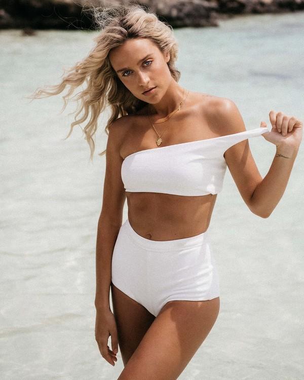 0 Tanlines Avalon Bikini Bottom White ABJX400348 Billabong