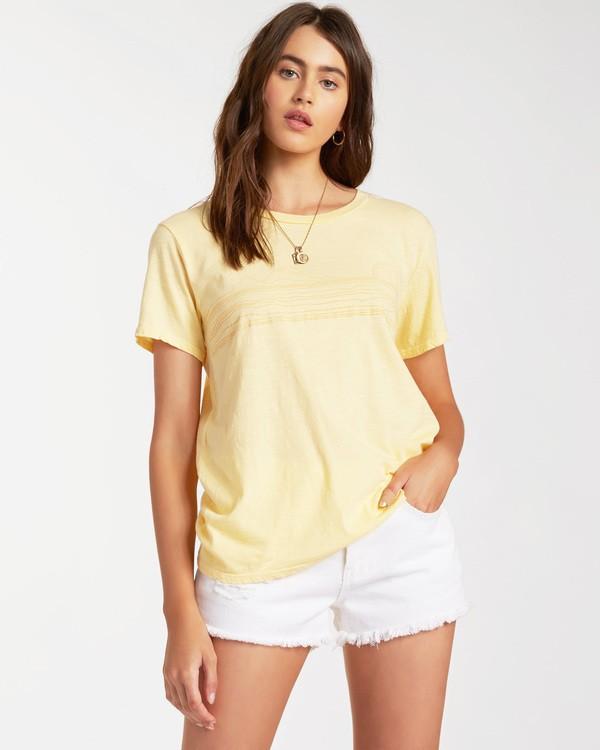 0 Blue Skies Short Sleeve T-Shirt Yellow ABJZT00174 Billabong