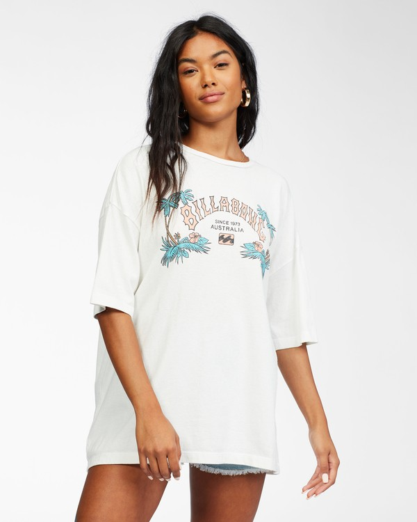 0 Heritage Palms T-Shirt White ABJZT00240 Billabong