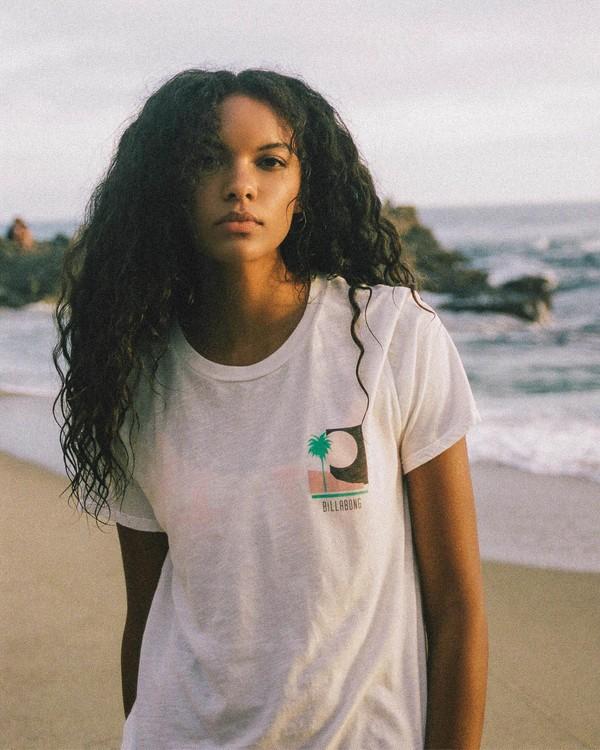 0 Sun Bleached View T-Shirt White ABJZT00257 Billabong