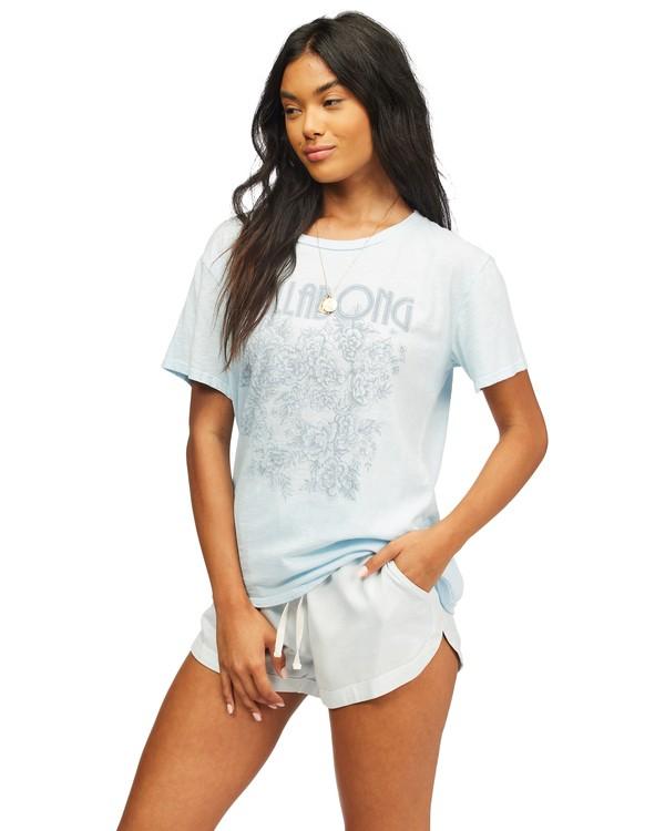 0 Flower Power T-Shirt Blue ABJZT00299 Billabong