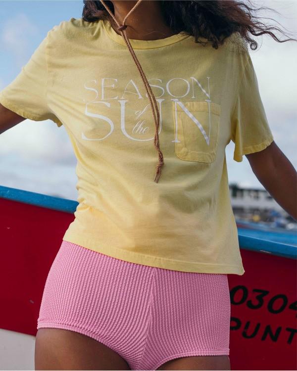 0 Best Season T-Shirt Yellow ABJZT00317 Billabong