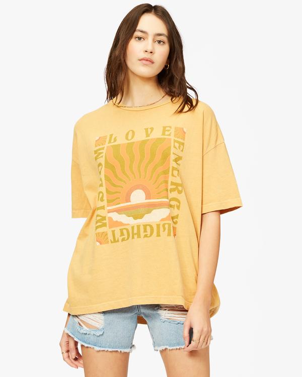 0 Love And Light Boyfriend T-Shirt White ABJZT00374 Billabong