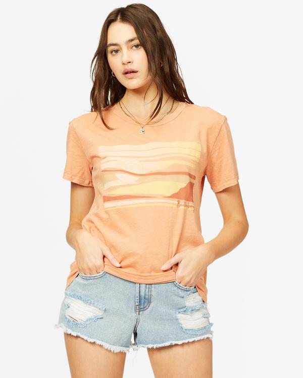 0 Tropical Oasis Overdyed Boyfriend T-Shirt Brown ABJZT00385 Billabong