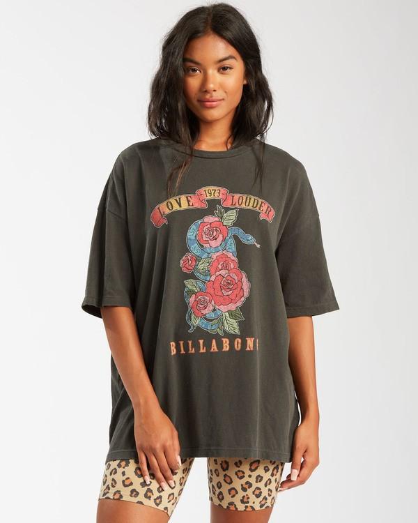 0 Love Louder T-Shirt Black ABJZT00476 Billabong