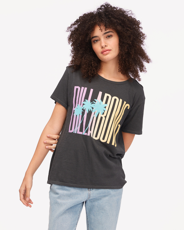 0 Sun Club Boyfriend T-Shirt Black ABJZT00605 Billabong