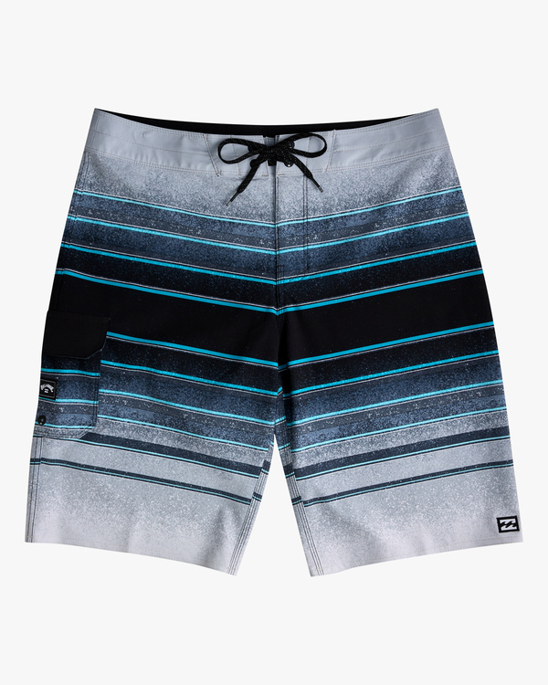 "0 Boys' (2-7) All Day Stripe Pro Boardshorts 14"" Grey ABTBS00103 Billabong"