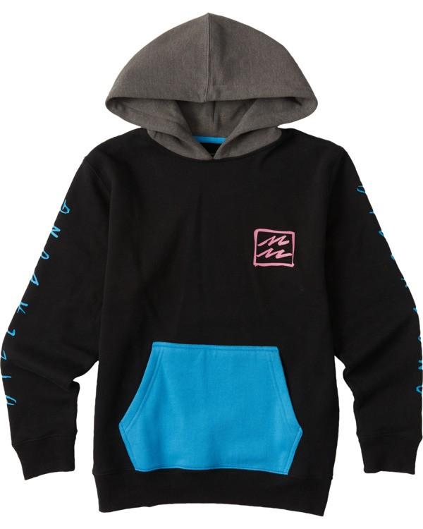0 Boys' (2-7) United Pullover Hoodie Black ABTFT00100 Billabong