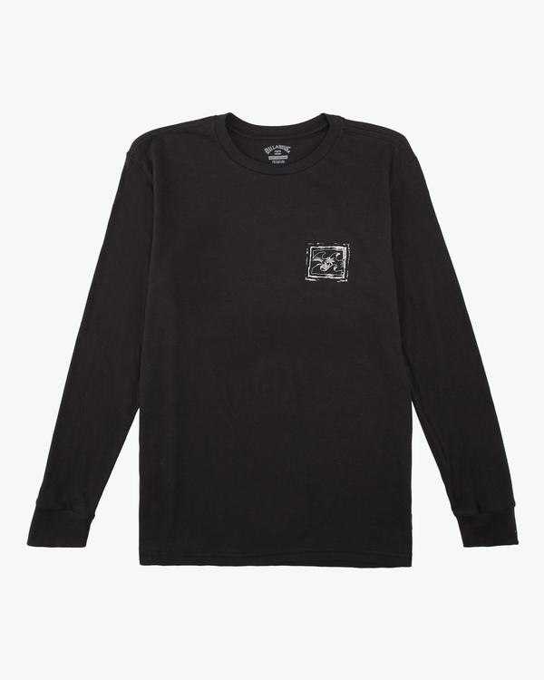 0 Boys' (2-7) Crayon Wave Long Sleeve T-Shirt Black ABTZT00142 Billabong
