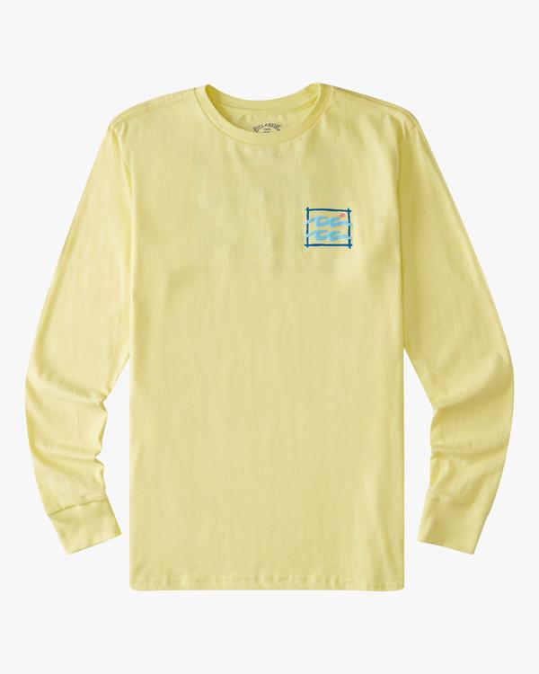 0 Boys' (2-7) Crayon Wave Long Sleeve T-Shirt Yellow ABTZT00155 Billabong