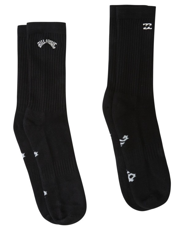 0 2 Pack Core Crew Socks Black ABYAA00131 Billabong