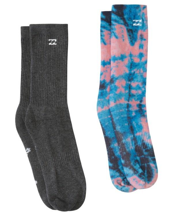 0 2 Pack Core Crew Socks Blue ABYAA00131 Billabong
