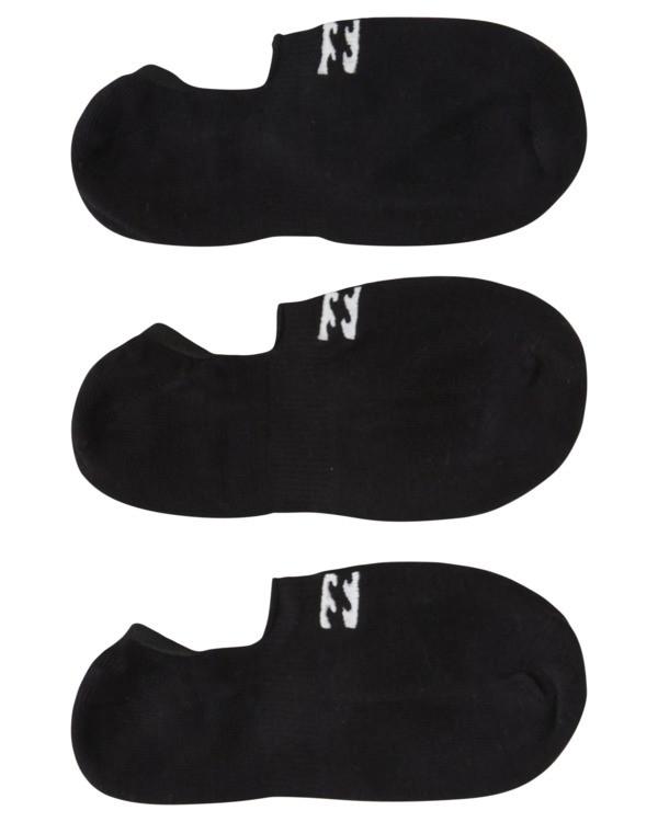 0 3 Pack Core No Show Socks Black ABYAA00134 Billabong