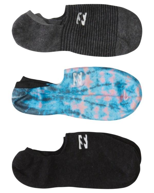 0 3 Pack Core No Show Socks Blue ABYAA00134 Billabong