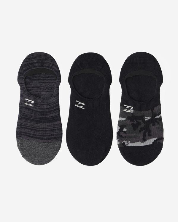 0 3-Pack Camo No-Show Socks Black ABYAA00171 Billabong