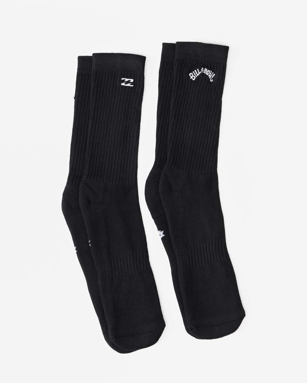 0 2-Pack Core Crew Socks Black ABYAA00172 Billabong