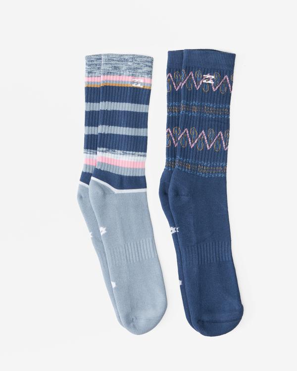 0 2-Pack Paisley Crew Socks Blue ABYAA00176 Billabong
