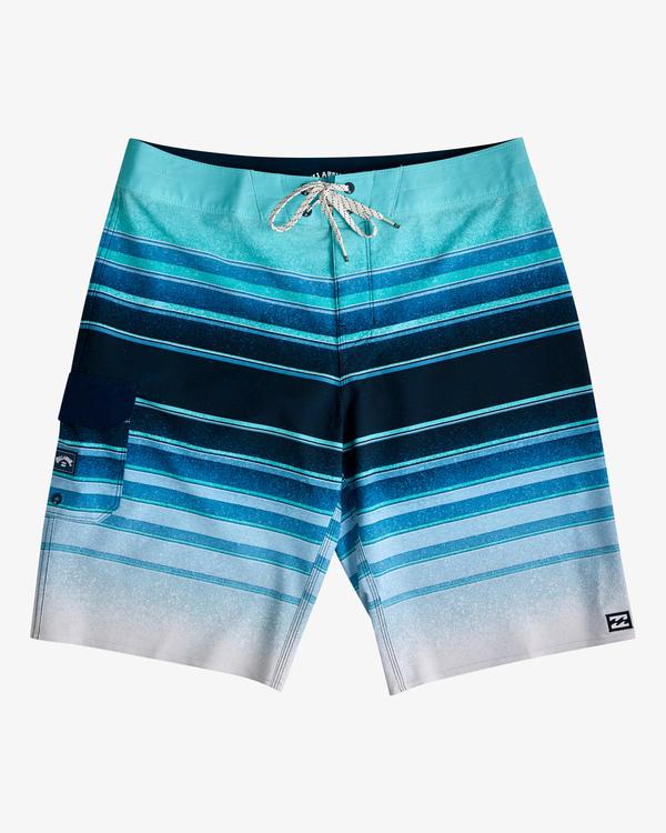"0 All Day Stripe Pro Boardshorts 21"" Blue ABYBS00111 Billabong"