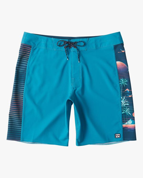 "0 D Bah Pro Boardshorts 19"" Blue ABYBS00120 Billabong"