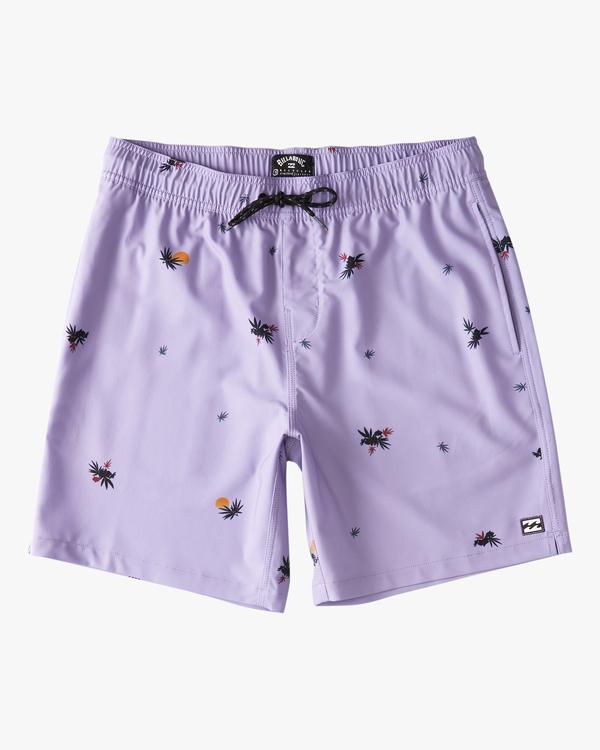 "0 Sundays Layback Boardshorts 17"" Purple ABYBS00123 Billabong"