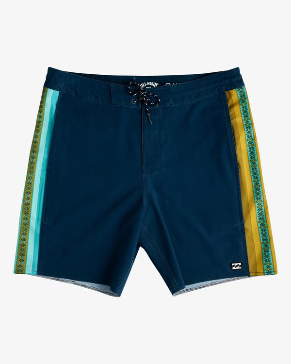 "0 D Bah Lo Tides Boardshorts 17"" Blue ABYBS00126 Billabong"
