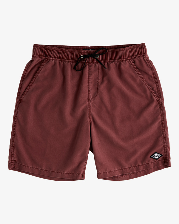 """0 All Day Overdyed Layback Boardshorts 17"""" Red ABYBS00134 Billabong"""