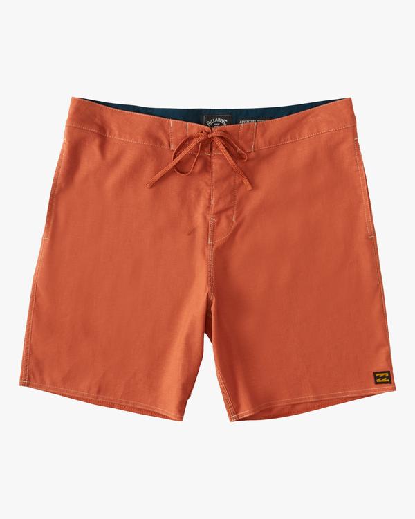 "0 A/Div Surftrek Hemp Lo Tide Boardshorts 17"" Red ABYBS00138 Billabong"