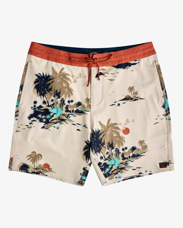 "0 Surftrek Lo Tide Boardshort 17"" Brown ABYBS00146 Billabong"