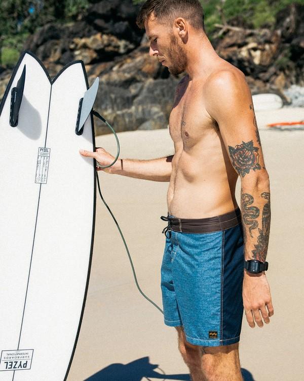 "0 Wrangler Icons Lo Tides Boardshorts 17"" Brown ABYBS00198 Billabong"
