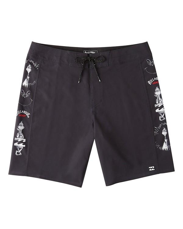 "0 Grinch Aloha D Bah Pro Boardshort 19"" Black ABYBS00206 Billabong"