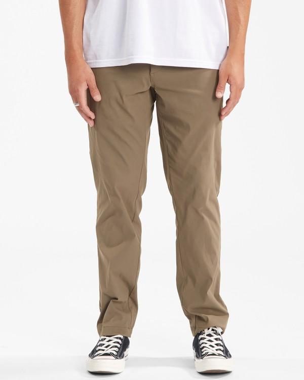 0 A/Div Surftrek Plus Pants Brown ABYDP00101 Billabong