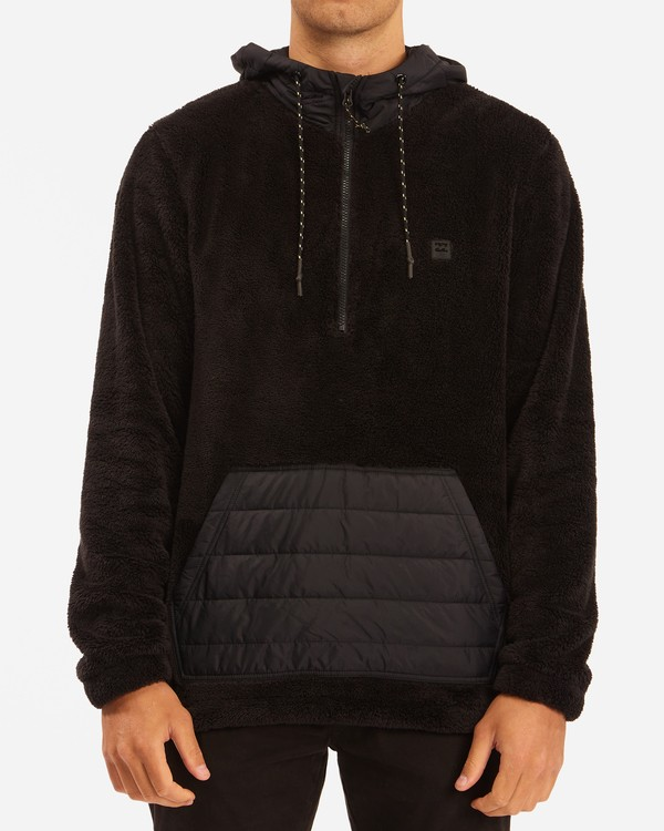 0 A/Div Badger Half-Zip Pullover Hoodie Black ABYFT00169 Billabong