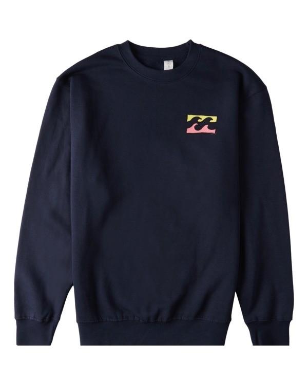 0 Brush Wave Crew Neck Sweatshirt Blue ABYFT00172 Billabong