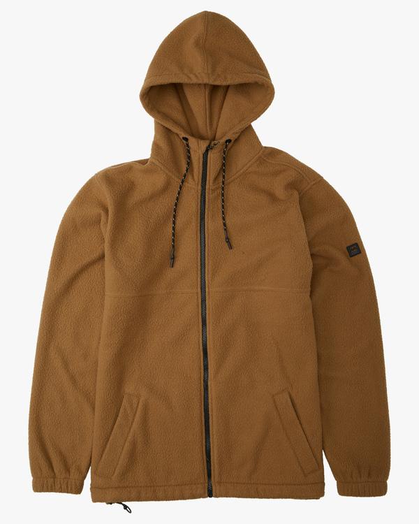 0 A/Div Boundary Zip-Up Sherpa Hoodie Brown ABYFT00185 Billabong