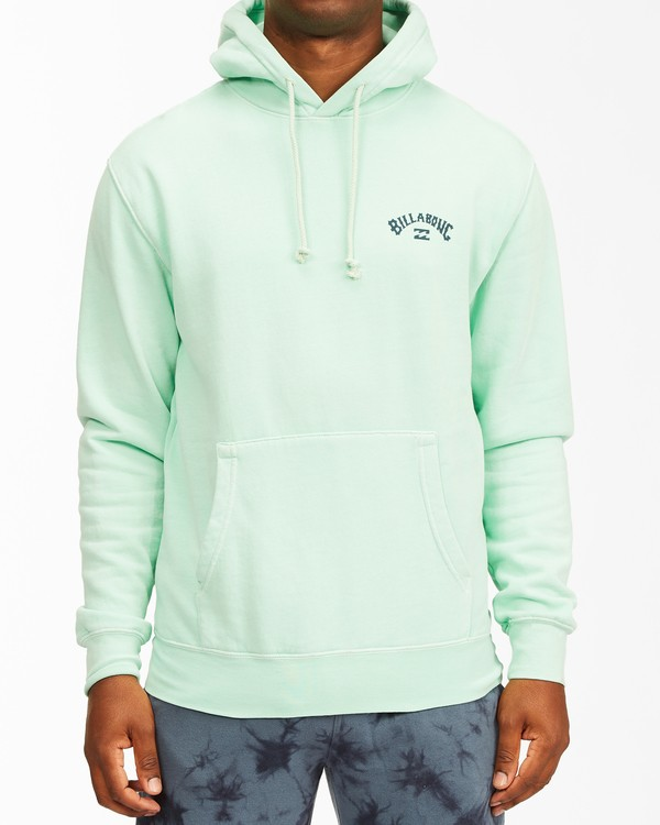 0 Arch Wave Washed Pullover Hoodie Green ABYFT00195 Billabong